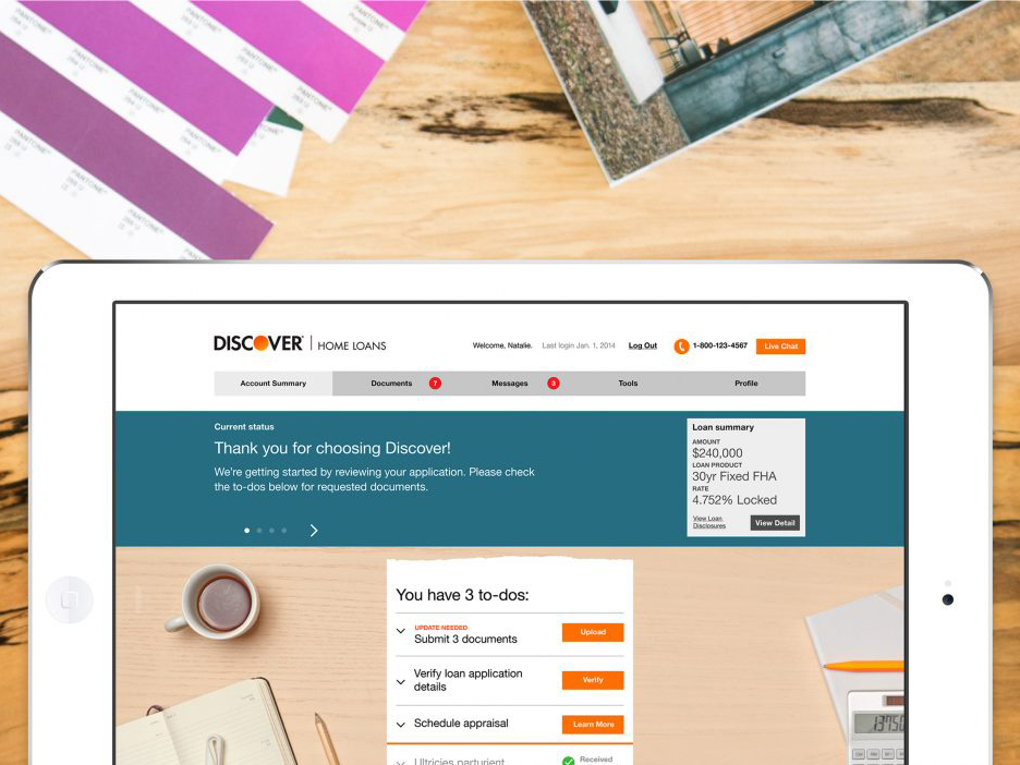 home equity and personal loan websites all while creating a unified digital language to unite the discover user experience across all of its channels - Discover Card Personal Loan